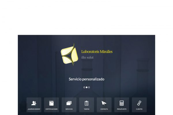 Web corporativa para Laboratoris Miralles www.labmiralles.com